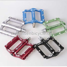 China CNC Bike Pedal Aluminum Alloy Waved Big Platform Sealed Bearing Pedal for Mountain Bike Anodized with Customer's Logo supplier