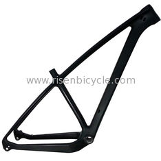 China 27.5 Plus Carbon Mtb Frame 12mm Through axle Disc Brake Inner Cabling 1160 Grams for Mountain Bike/Bicycle supplier