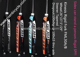 China Lightweight MTB Rigid Fork FML30A 26/27.5/29ER Aluminum Alloy Dropout 9qr Tapered Bicycle Fork supplier