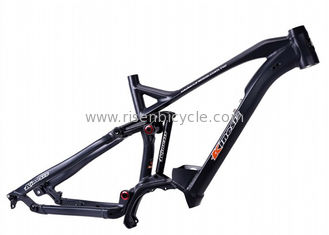 China 27.5er Plus AM Full Suspension Electric Bike Frame Shimano E8000 Mid Drive System Ebike supplier