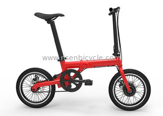 "China CE 16"" Electric Folding Bike/Bicycle 200-250w Brushless Lithium Battery Powered supplier"