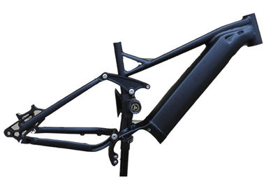 China 27.5er Boost Full Suspension Electric Bike Frame w/ Shimano E8000 Integrated downtube factory