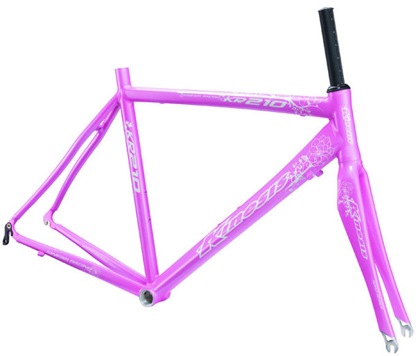 Superlight Aluminum Bike Frame Lady Aero Road Bike Frame+Fork set KR210L Women 1.4kg