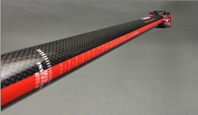 Zero Offset Carbon Fiber Seatpost of Folding Bike 33.9/580 or 34.9/580mm High Strength 3K Seat Post