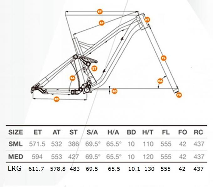 27.5er/650B Aluminum Enduro Full Suspension Bike Mountain Bike Frame Mtb TFM636 164mm