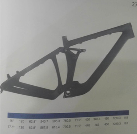 27.5er Full Suspension Carbon Bike Frame Downhill 198mm Travel 150x12 thru-axle
