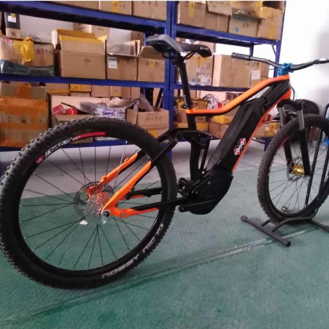 27 5er Electric Full Suspension Bicycle Frame Bafang G330