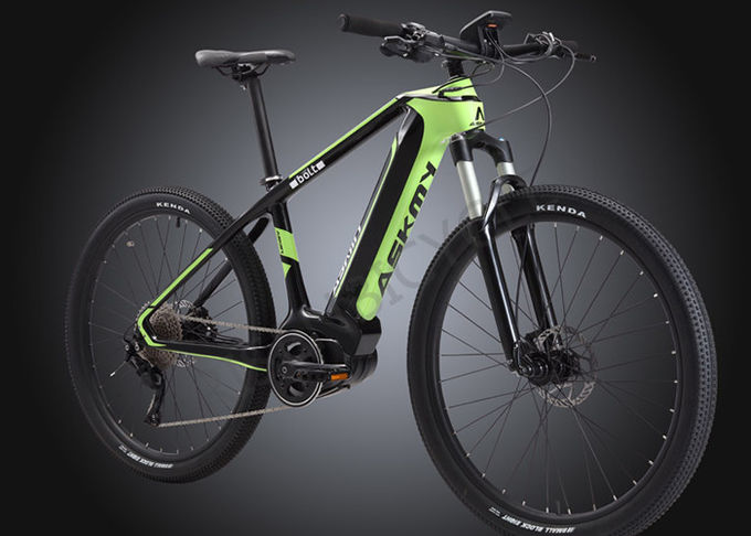 Full Carbon Electric Bike Mid-drive Bafang Mountain Bike 36V/350W Integrated